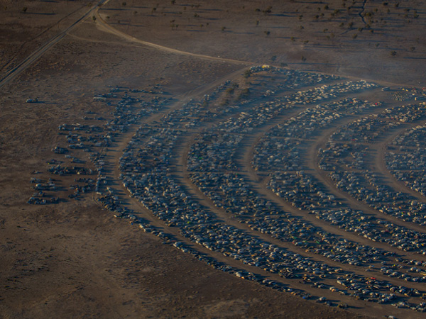 A birds eye view of the Big Red Bash Festival, Birdsville