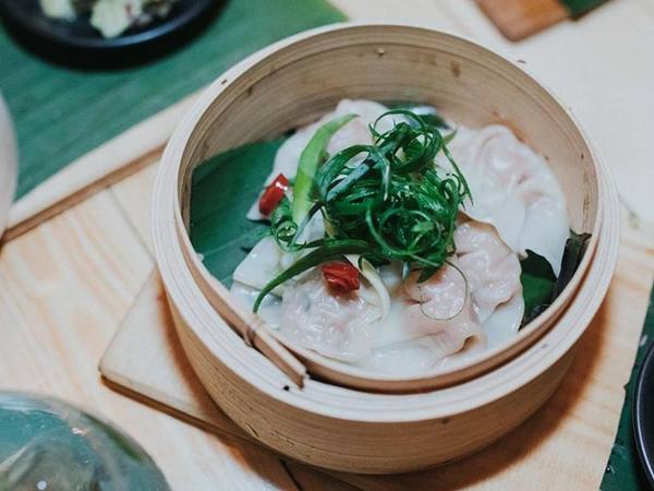 Dumplings at Aloha Bar and Dining, Broadbeach