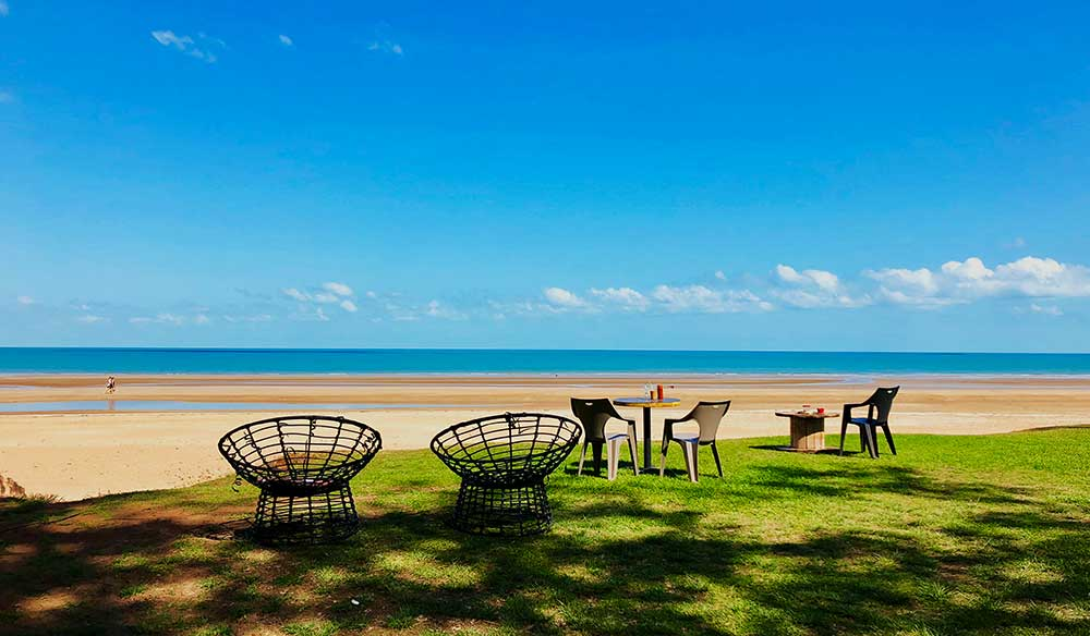 The laid back vibe in all its glory at De la Plage, Casuarina Beach.