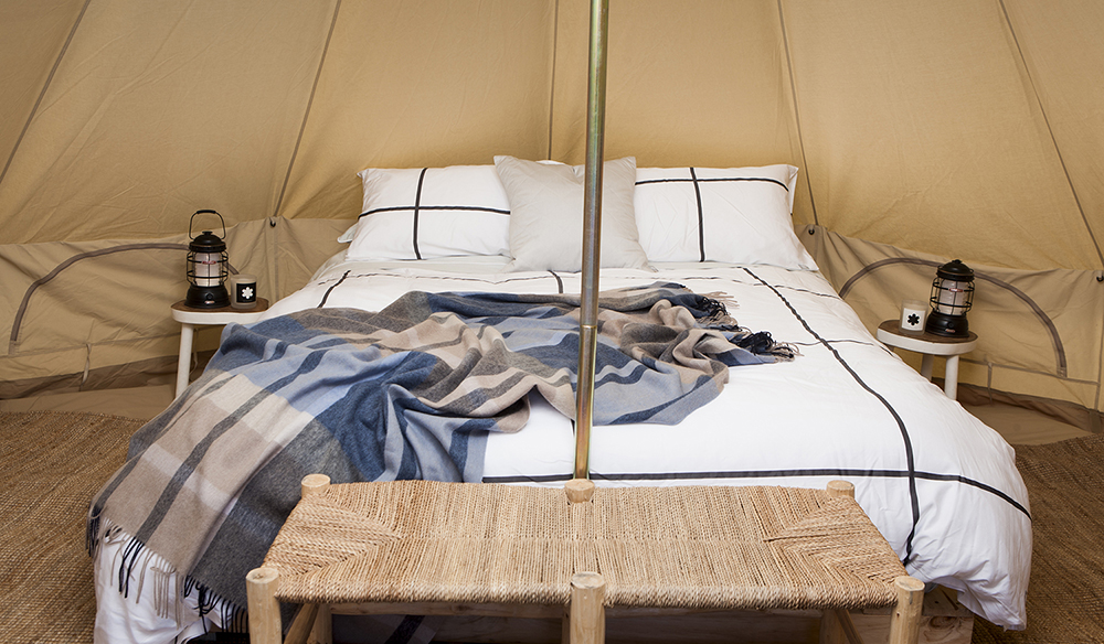 Cosy tent interiors (Photo: Charlie Kinross)