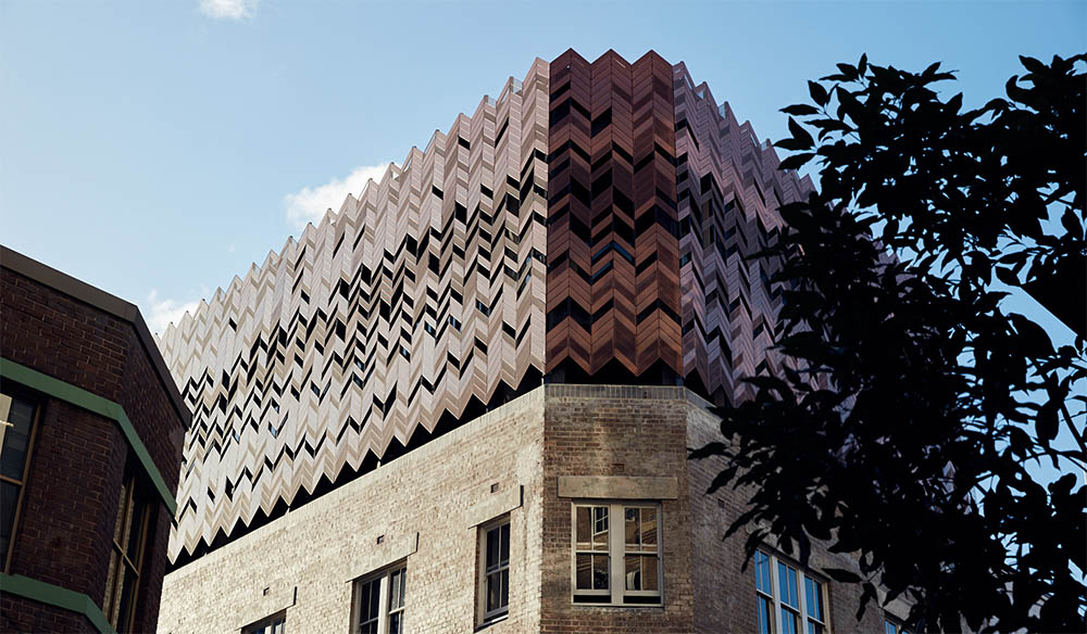 With its bold architectural facade, the hotel is now a local landmark