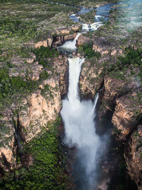 Waterfall in Kakadu.