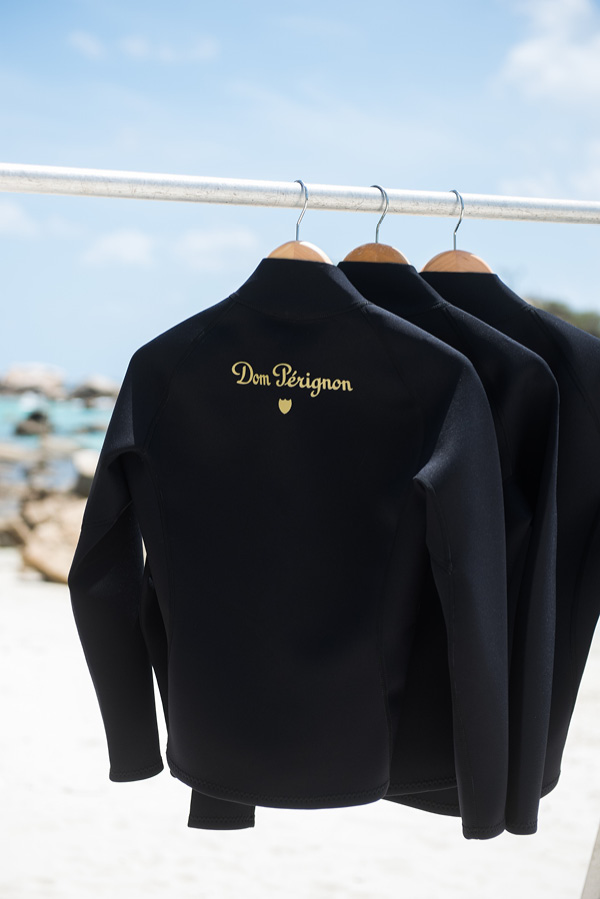 Special wet suits for guests of Lizard Island.