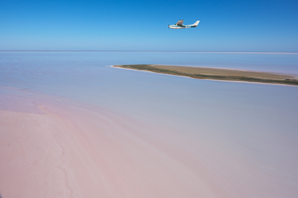 Lake Eyre from above.