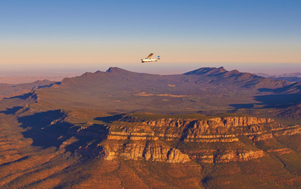 Wilpena Pound from the sky.
