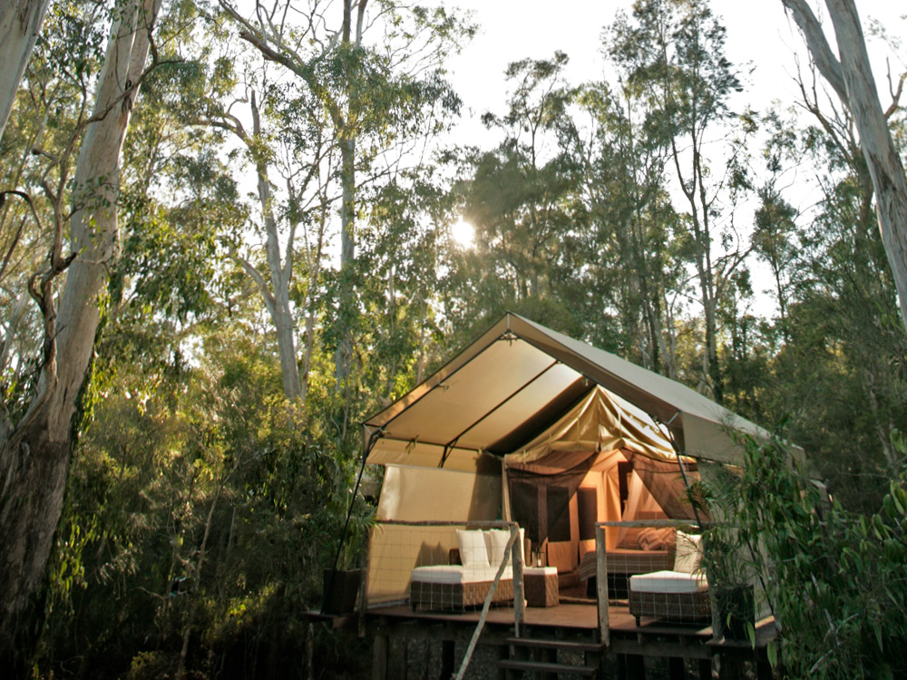 Paperbark Camp in Jervis Bay.