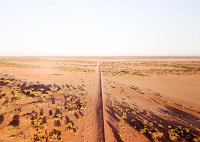 Dingo Fence, outback Australia.