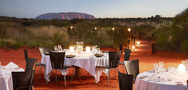 Dinner under the stars at Uluru