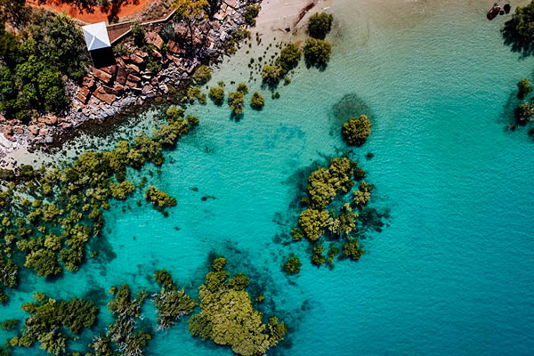 Blue waters of The Kimberley