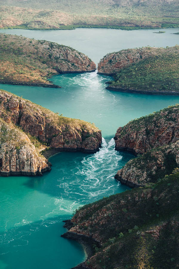 horizontal waterfall The Kimberleys.