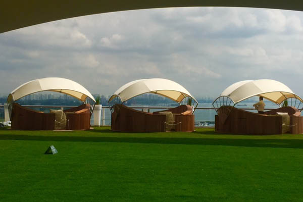 Celebrity Solstice lawn and private cabana