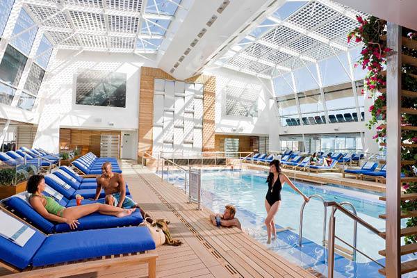 Celebrity Solstice indoor pool