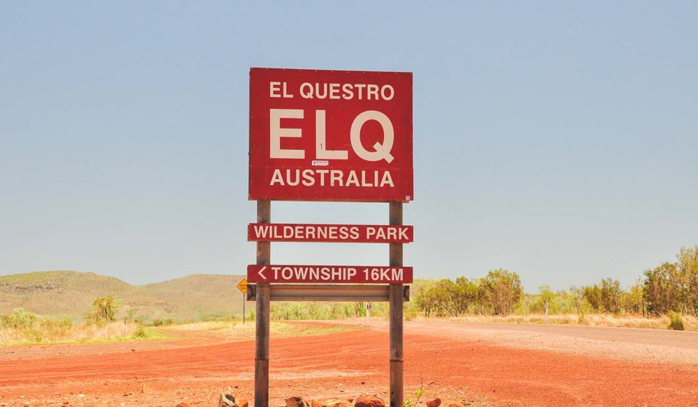 El Questro national park sign