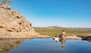 Infinity pool of Gunlom Falls