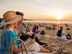 Darwin beach sunset