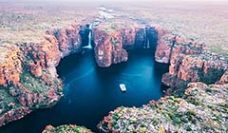 Aerial view of waterfall in The Kimberley