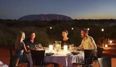 Dining outside at Uluru