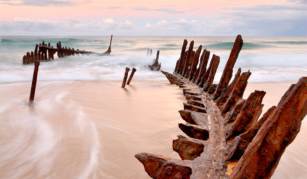 Wrecks at Dicky Beach