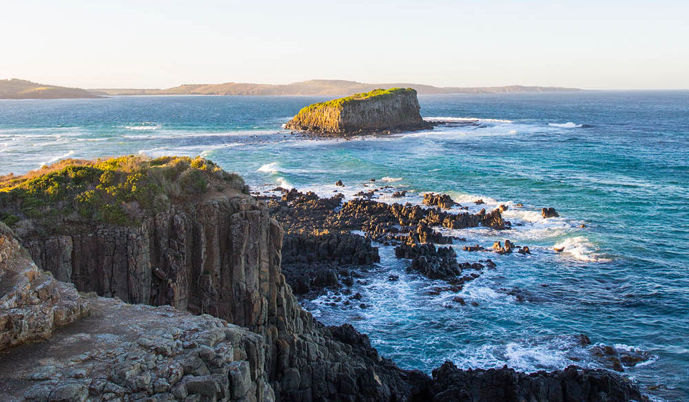 Coastal views from Minnamurra Lookout near Kiama.