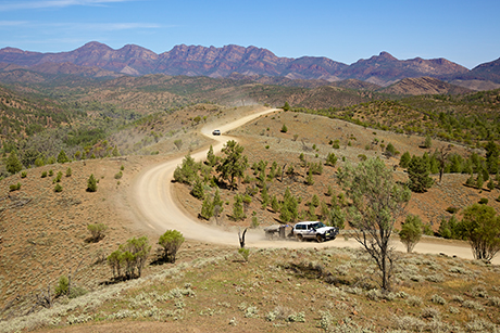 Flinders Ranges in South Australia.