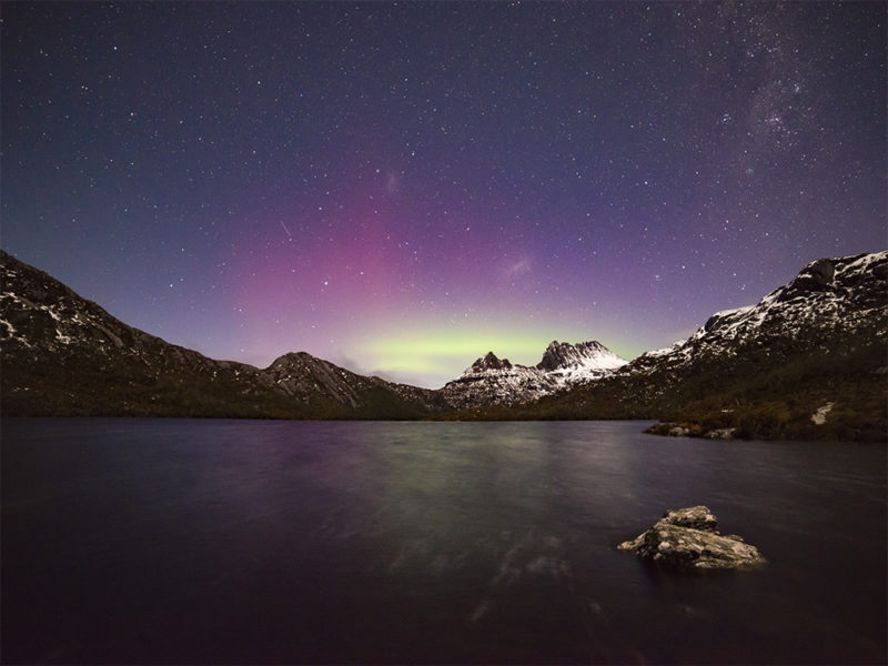 Aurora Australis over Cradle Mountain
