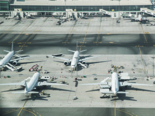Planes on a tarmac