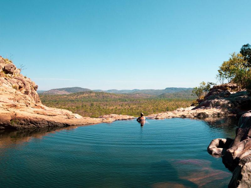 Nature's infinity pool at Gunlom