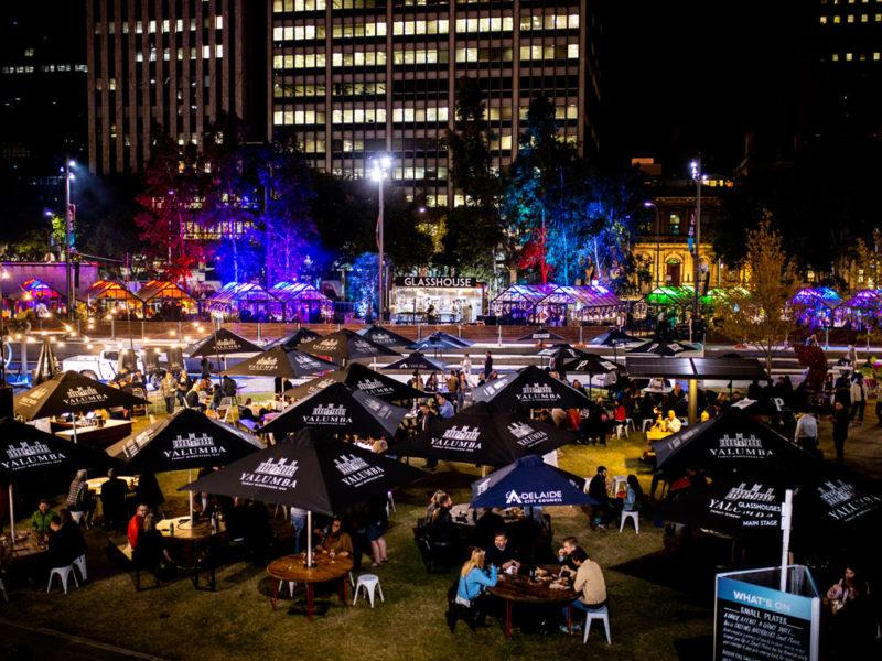 Adelaide's Town Square during Tasting Australia.