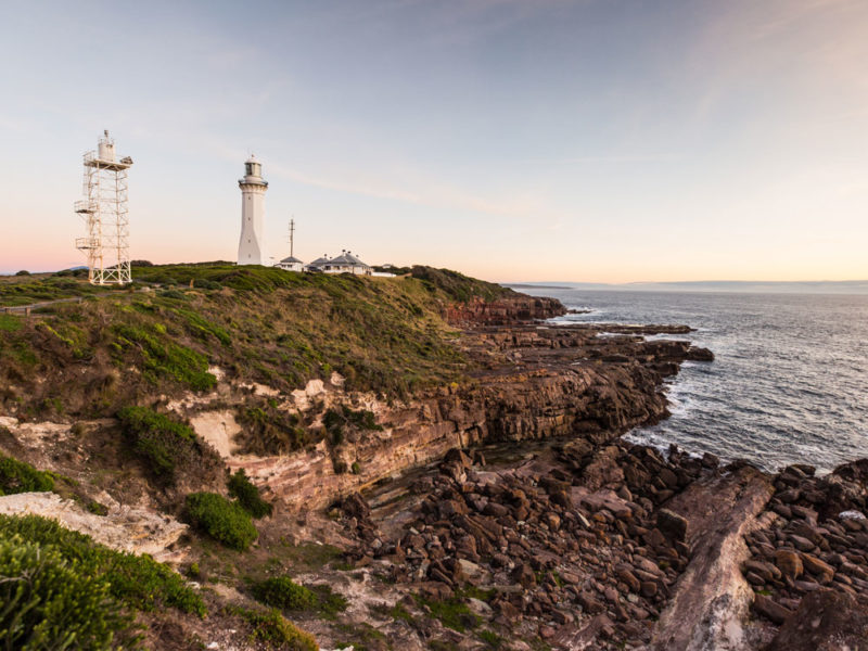 Ben Boyd Green Cape Lighthouse on the Sapphire Coast. (