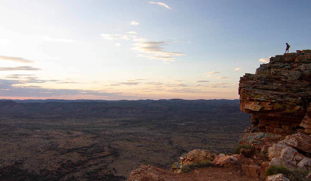 Alice Springs surrounds as seen from above