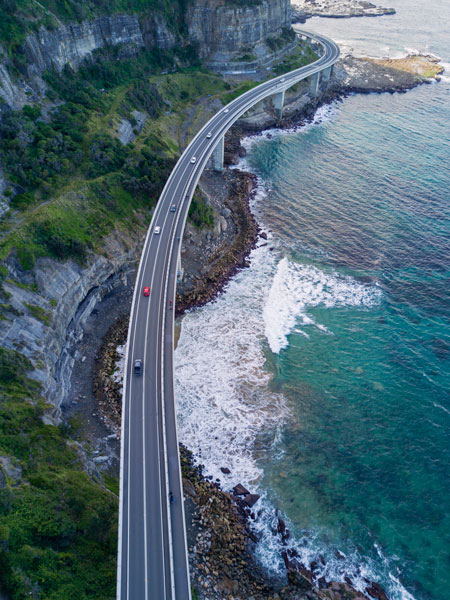 Drive along the Sea Cliff Bridge