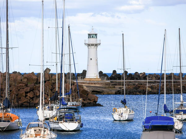 Watch the views from Belmore Basin, Wollongong