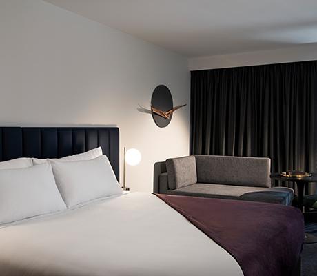 Midnight Hotel room interior, Canberrra