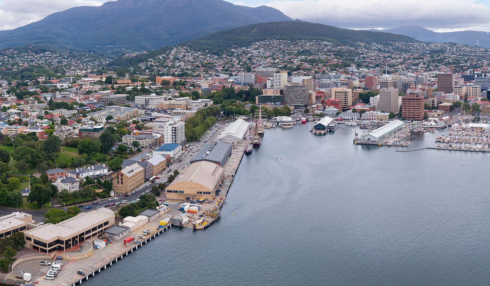 A view of Hobart's waterfront
