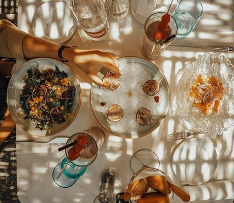 Lunch at Aguas de Ibiza