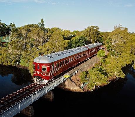 Vintage Rail Journeys, red train
